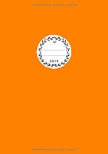 2019: Jan - Dez Wochenplaner | Größe A5 | 1 Woche auf 2 Seiten | 52 Wochen Buchkalender | Kürbisgelb (Halloween 2019 La Datum)
