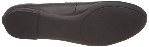 Clarks Carousel Ride, Ballerines femme Noir (Black Leather)