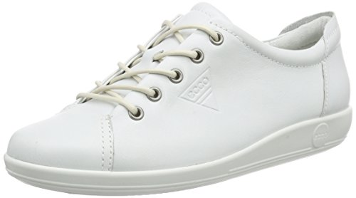 Ecco Damen Soft 2.0 Derby, Weiß (1007WHITE), 39 EU