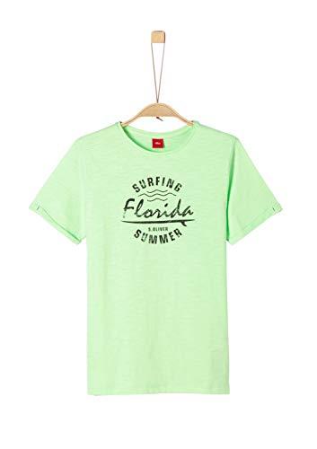 s.Oliver Jungen T-Shirt, Grün (Light Green 7256), Extra Large -