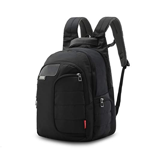 Harissons Bags Vervo 15.6-inch Laptop/Travel/Casual Backpack for Men and Women with rain Cover (Black, 40 Ltrs) Image 2