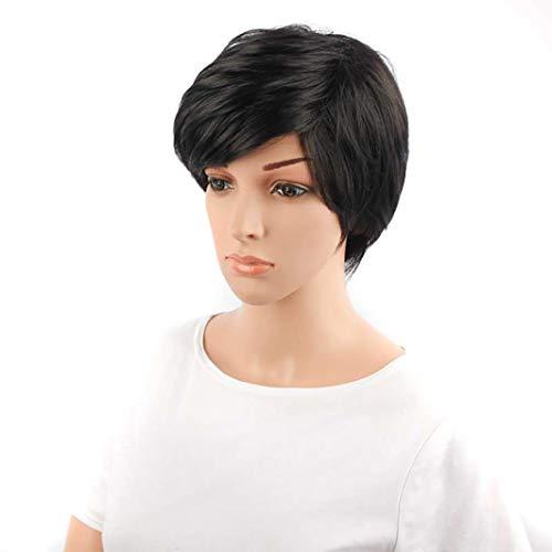 Wokee Perücke Haar Wigs Weiblich Schwarze Haar-Spitze-Front-Perücke-Gerade Synthetische Perücken für Frauen wärmen Freundliches