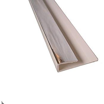 Chrome Panel Trim Perfect For Bathroom Kitchen Shower Wall PVC Cladding  Panels 8mm End Cap
