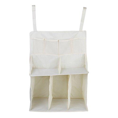 Taschen Krippe Windeln (kingken Wasserdichte Professionelle Bettchen Windel Taschen Aufbewahrungstasche Organizer (beige))