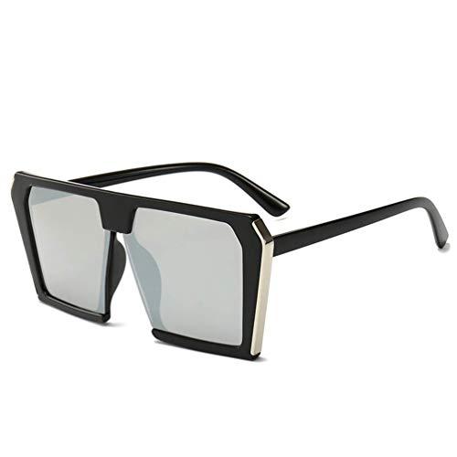 WYJW Für Männer \u0026 Damen XL Große Übergroße Superflache Oberseite Quadrat Zweifarbige Mädchen Mode Sonnenbrillen Farbige Gläser