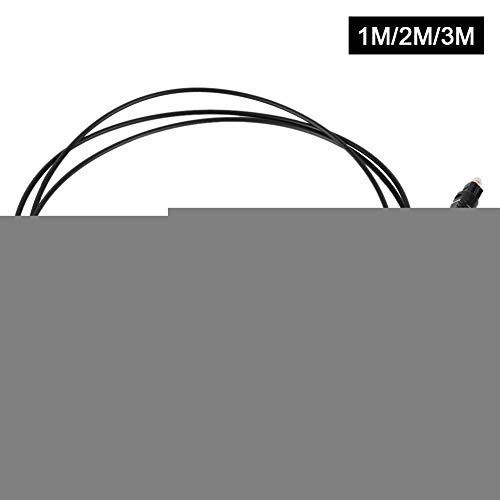 Optisches Digitalkabel,Optisches Digital-Audiokabel OD 2,20 mm quadratischer Anschluss für Audioübertragung CD, DVD, DAT, MD, LD(1m) -