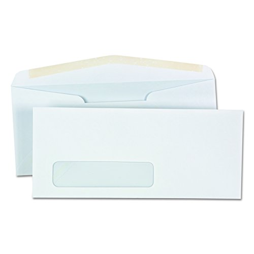 Window Business Envelope, V-Flap, #10, White, 500/Box Wind Flap