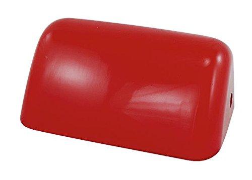Kleiner Schirm für Bankerslampe, rot 18x7x11cm- Glasschirm