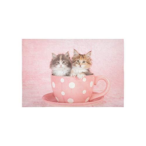 AGIRL Tapisserie Rosa kleine Baby Katzen in Cup Wandteppiche Wandbehang Blume psychedelischen Wandbehang Wandbehang indischen Wohnheim Dekor für Wohnzimmer Schlafzimmer 60 x 40 Zoll