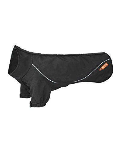 PALMFOX Pet Hundemantel-Jacke, Warm Padded Puffer, Brustschutz Harness, Wasserdicht Atmungsaktiv Regenjacke für Kleine/Mittlere/Große Hunde Schwarz 2XL