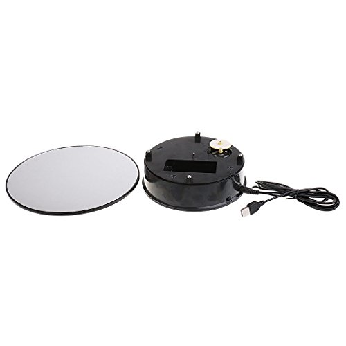 ELECTROPRIME Battery Operated Rotating Ring Shoes Display Holder Stand Turntable Plate #2