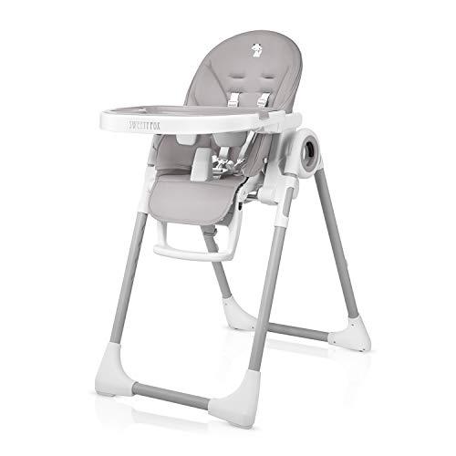 Chaise Haute pour Bebe Evolutive, Reglable et Pliable - 7 Hauteurs...