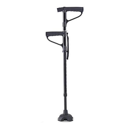 TMIL Tetrapod-Gehstock Mit 4 Beinen, Quad Cane Mit LED-Lichtschwammgriff, 10 Einstellbare Höhenstufen, Für Behinderte Und Ältere Arthritis-Senioren,SmallBase -