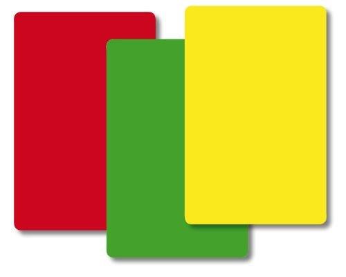 TimeTEX Ampel-Karten - 84 Karten - jeweils 28 Kärtchen Rot - Gelb - Grün - Format: 59 x 91 mm -...