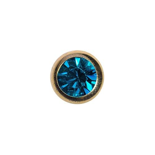 Piercing pallina plasma gold con gioiello 5mm (calibro/spessore) blue banana body piercing (zircone)