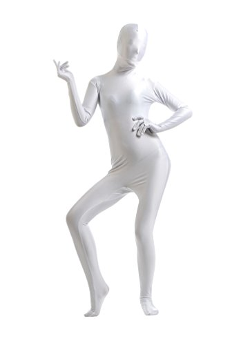 (CHENGYANG Herren Second Skin Suit Original Unitard Fancy Kleid Lycra Für Halloween Weiß XL)
