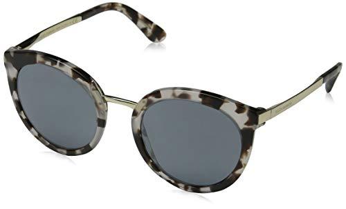 Dolce & gabbana donna 0dg4268 occhiali da sole, multicolore (cube havana fog), 52