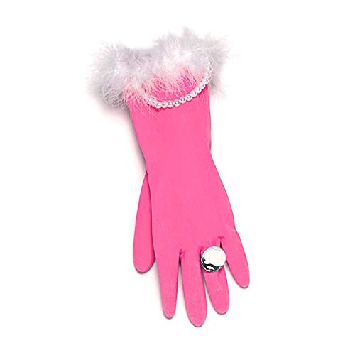 Glamorous Pink and Pearly Washing-up Gloves secret