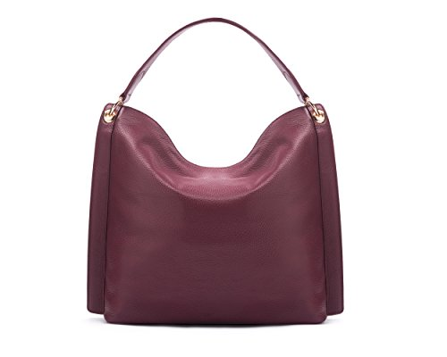 Sage Brown , Sac pour femme à porter à l'épaule taille unique Bordeaux