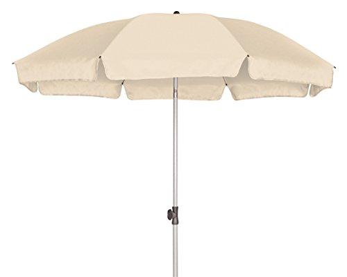 GoodSun Sonnenschirm BE, natur, 200 cm rund, Gestell Stahl/Kunststoff, Bespannung Polyester, 2.3 kg