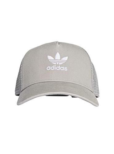 adidas Herren Trefoil Trucker Baseball-Cap, Solid Grey/White, FR Unique (Taille Fabricant : OSFM)