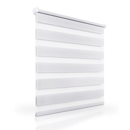 Doppelrollo Klemmfix Rollo ohne Bohren Fenster Wandmontage 45 50 55 60 70 75 80 90 100 CM Breit