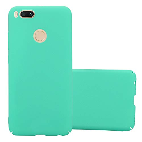 Cadorabo Funda para Xiaomi Mi A1 / 5X en Frosty Verde - Cubierta Protección de Plástico Duro Super Delgada e Inflexible con Antichoque - Case Cover Carcasa Protectora Ligera
