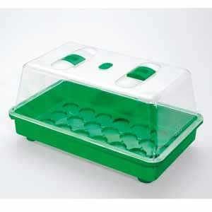 Mini-serre à semis en plastique 38x24x19cm 38x24x19 cm