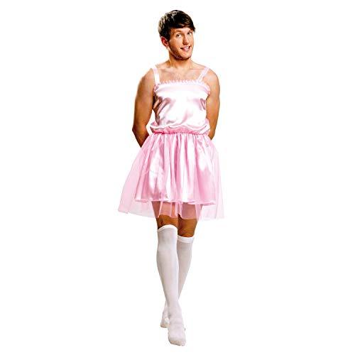 My Other Me Herren Kostüm Ballerina, Größe M-L, rosa (viving Costumes - Rosa Ballerina Kostüm