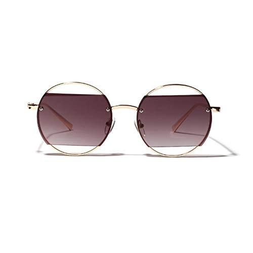 MINGMOU Einzigartige Runde Sonnenbrille Frauen Vintage Übergroße Hohle Sonnenbrille Für Frauen Designer Runde Sonnenbrille Weiblich