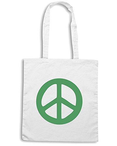 T-Shirtshock - Borsa Shopping TM0472 peace Bianco