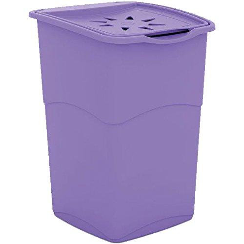Kis 6703000 0645 02 Wäschebox Koral, 47 L, Plastik, violett, 38 x 37 x 53 cm