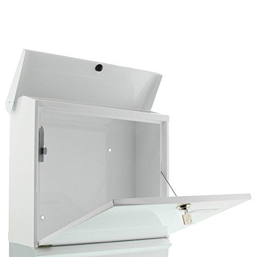 BURG-WÄCHTER, Briefkasten-Set mit integriertem Zeitungsfach, A4 Einwurf-Format, Verzinkter Stahl, Comfort-Set 91300 W, Weiß - 3