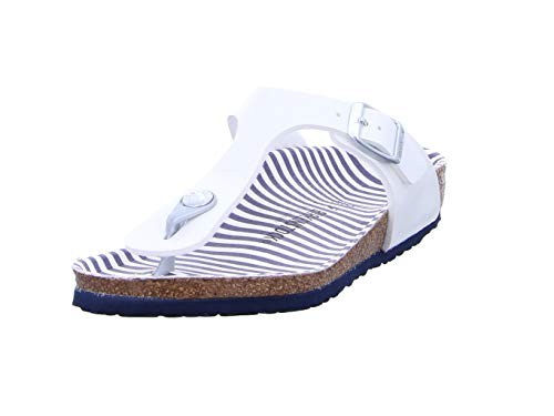 Birkenstock Gizeh Kids Nautical Stripes Bambina,Infradito,Ragazza,Striscia,Nautical Stripes White,32 EU