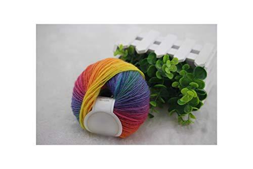 Kenfandy 3 pezzi * 50g australian wool arcobaleno filato per maglieria a mano tessuto mano all'uncinetto maglieria di lana, 11