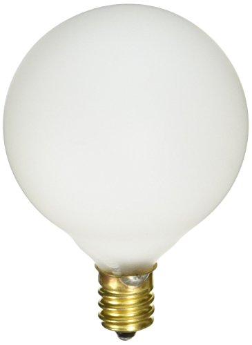 Fünf-licht-leuchter-glühlampen (Satco S3772120-volt 2/Karte g16.5Kandelaber Gluehbirne Base Leuchtmittel, weiß satiniert)