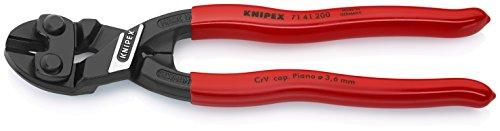 KNIPEX 71 41 200 CoBolt® Kompakt-Bolzenschneider, gewinkelt schwarz atramentiert mit Kunststoff überzogen 200 mm