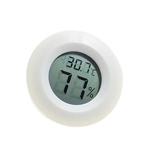 Uokoki Mini Practical Digital-Hallenrunde Thermometer Hygrometer Temperatur- und Feuchtigkeitsmessgerät LCD Display