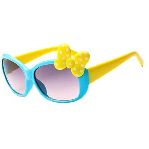 Angoter Kinder Bogen Sonnenbrille Karikatur-Glas Baby-Mädchen-Nette Bogen-Sonnenbrille Für Im Freien Spielraum
