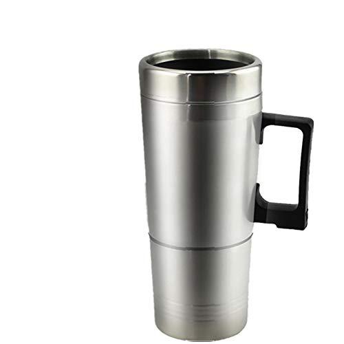 Edelstahl Auto elektrische Tasse, Auto Travel Cup heißes Getränk gefrorene Tasse intelligente Heizung Auto elektrische Tasse, Milch, Eier und gekochten gekochten Tee,24V