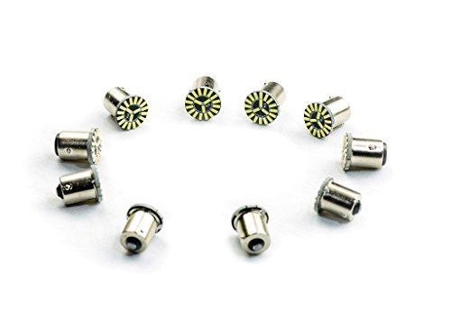 inion® (13) 10 x 19 P21 W BA15s SMD XENON blanc ampoules LED Lumière de frein arrière
