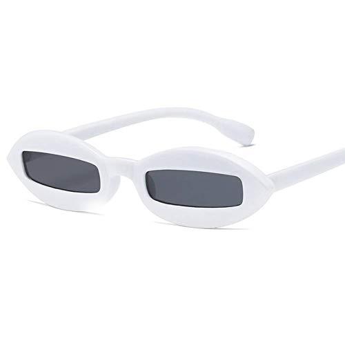 CHJKMN Ovale Sonnenbrille Damen Vintage Eye Sonnenbrille Small Frame Damen Sonnenbrille UV400