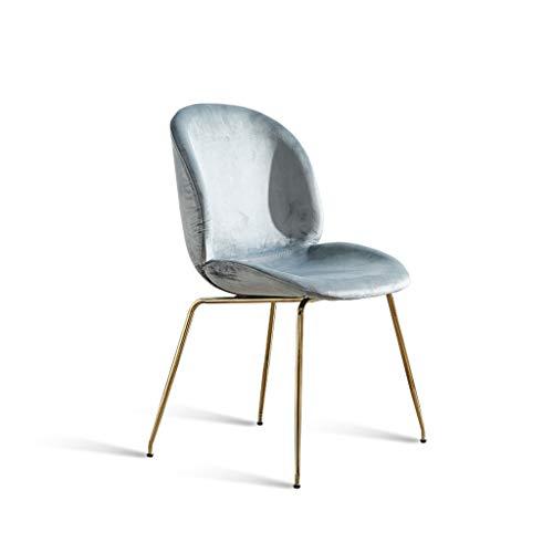 LGQ-JJU Nordic Make-up Stuhl, Ice Velvet Pad Restaurant Wohnzimmer Lounge Büro Moderne Möbel, 50 * 36 * 84cm (Color : Gray)