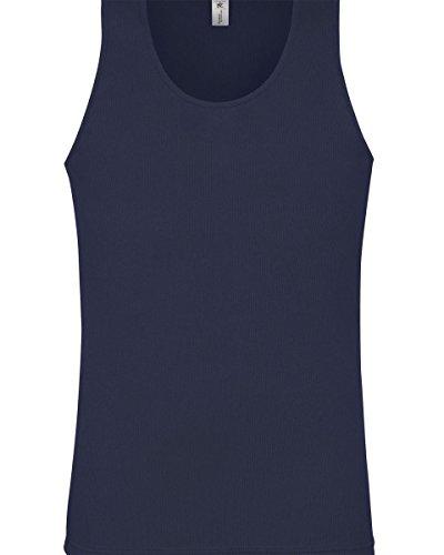B&C Herren T-Shirt Marineblau