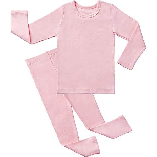 Kleinkind Baby Jungen Mädchen Langarm Solide Tops + Hosen Pyjamas Nachtwäsche Outfits - Unterwäsche Mädchen 2t Kleinkind