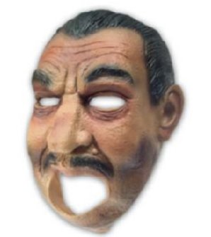 Moving Mouth Deluxe Latex Maske Mafia 20er Jahre Gangster passt perfekt