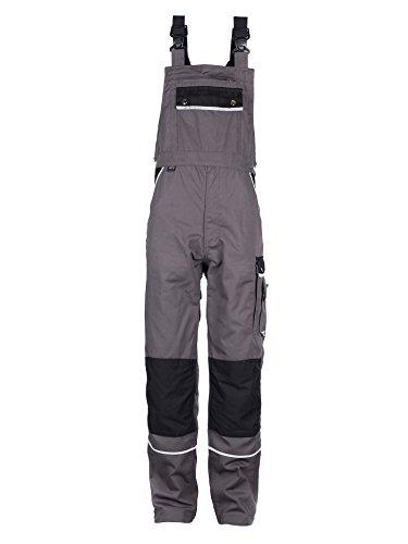 TMG® Herren Latzhose - strapazierfähig - Grau EU70