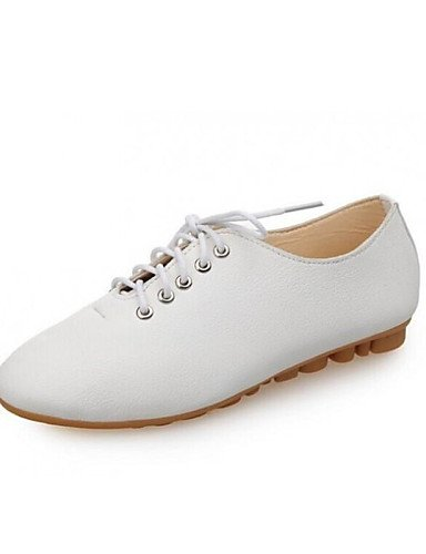ZQ 2016 Scarpe Donna - Stringate - Tempo libero / Casual / Sportivo - Comoda - Piatto - Finta pelle - Nero / Bianco , white-us8.5 / eu39 / uk6.5 / cn40 , white-us8.5 / eu39 / uk6.5 / cn40 black-us8.5 / eu39 / uk6.5 / cn40