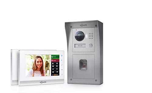 Goliath 2 Draht Video Türsprechanlage, Aufputz HD Türstation 150°, Edelstahl, App mit Türöffner Funktion, Fingerprint, Einfamilienhaus -