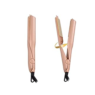Aehrebrn 2 in 1 Ceramic Professional Hair Curler Twist Hair Straightening Iron Curling Iron Wet & Dry Flat Iron Hair Styler with Dual Voltage Flat Iron Hair Styler (Flat Iron)